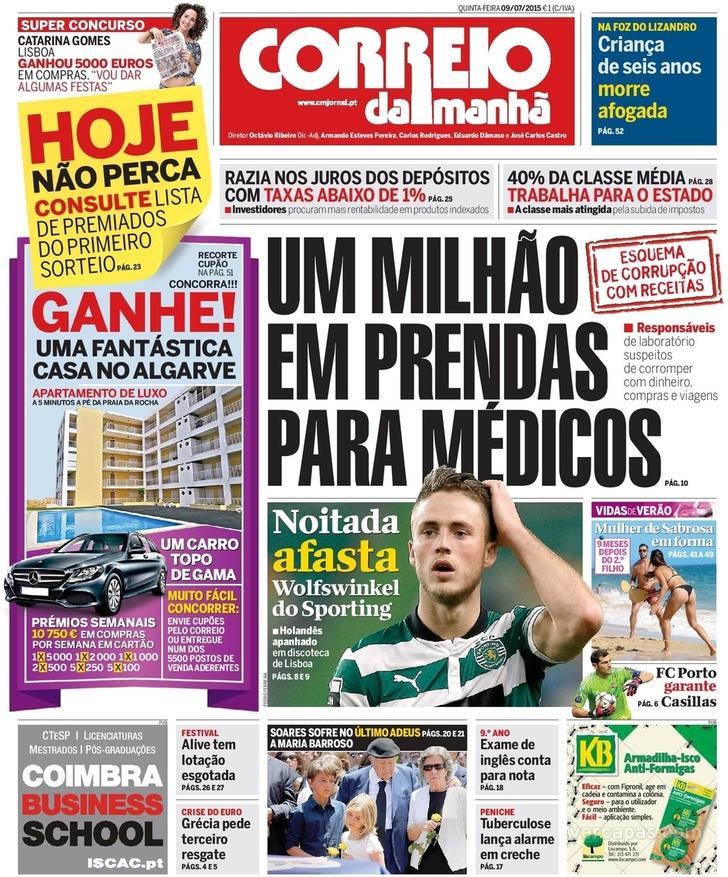 Correio da Manhã Jornal de Notícias 82c9b082e5546