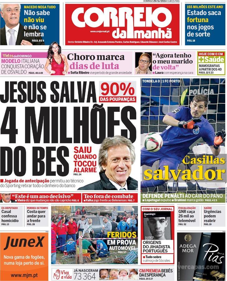 Correio da Manhã Público Jornal de Notícias 2baaf0f218646