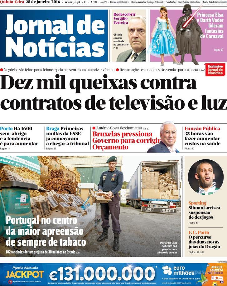 JORNAL DE NOTICIAS 28.01.2016